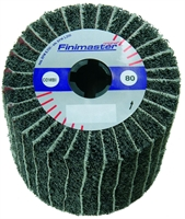 Combination flap brush wheel