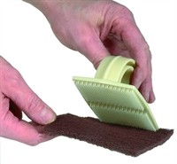 Scotchbrite handpad grip holder