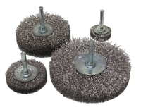 Spindle Mounted Wire Brush Wheels, Stainless Steel